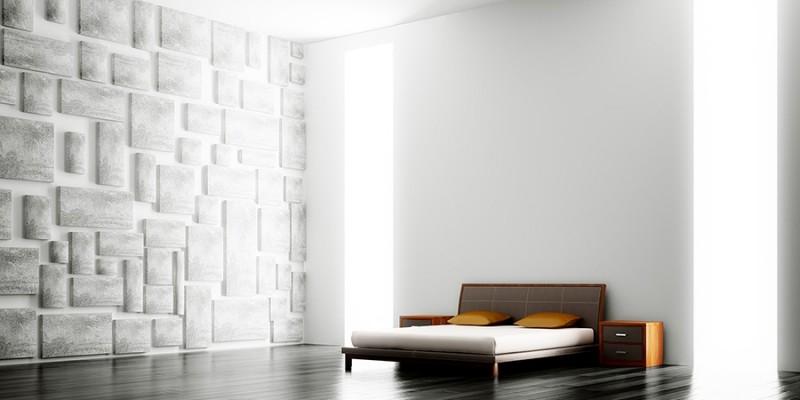 Modern bedroom interior 3d