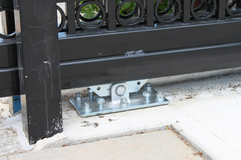Luxury car garage in new jersey duragates the one stop for Sliding driveway gate hardware