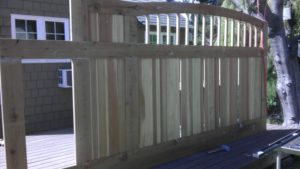 D004 - Homeowner - Wood Sliding Gate With Vinyl 07