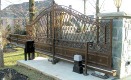 D007 – Ornamental Steel Sliding Gate – 02